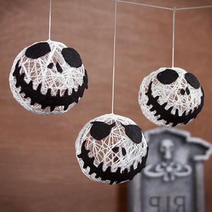 Une guirlande de Jack Skellington pour Halloween