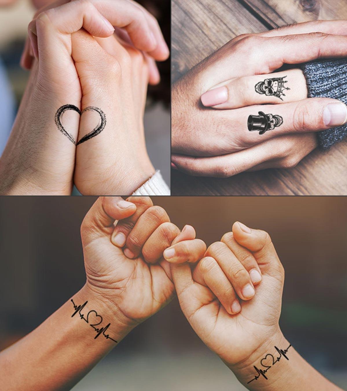 Obtenez des tatouages assortis ensemble.