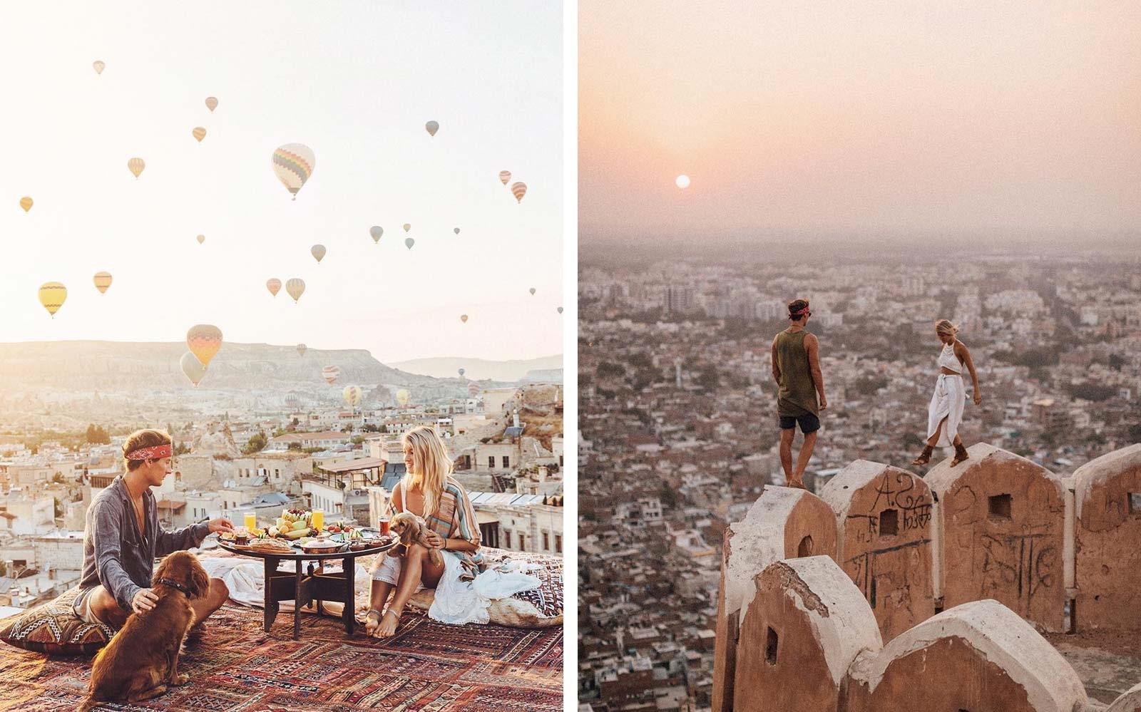 Si vous aimez voyager ensemble, vous pouvez vous lancer dans une nouvelle aventure pour votre premier anniversaire de mariage.