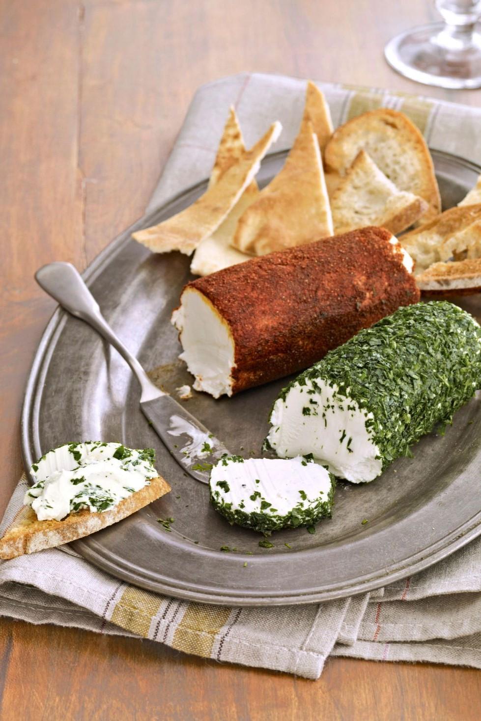 Entrées au fromage à la crème.