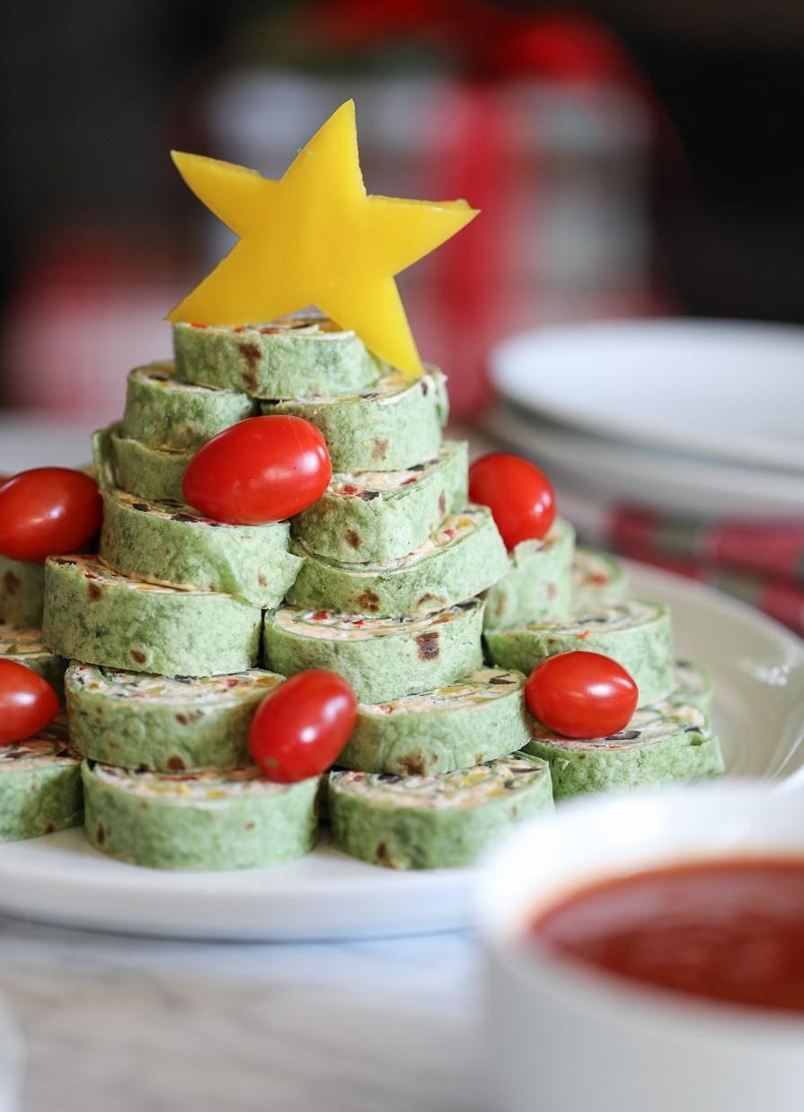 Recette d'apéritif de Noël: galettes au fromage à la crème.