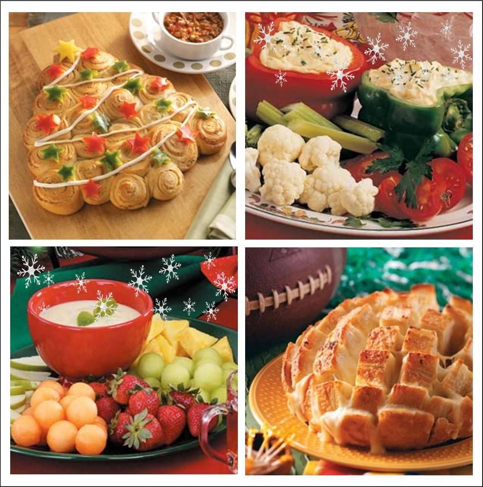Recette apéritif de Noël avec des légumes et fondue crémeuse.
