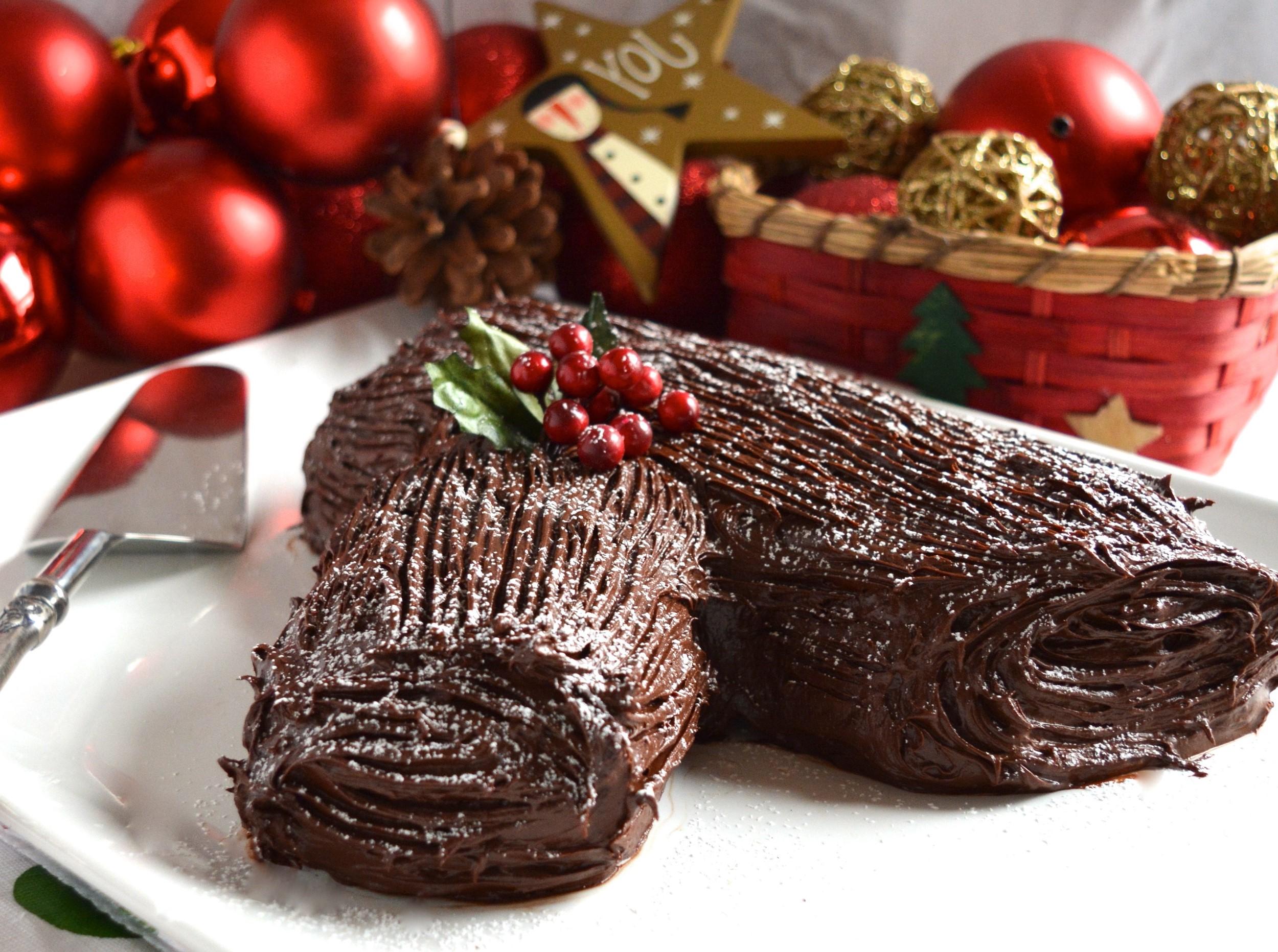 Une fourche est tout ce dont vous avez besoin pour créer un effet de bûche de Noël.