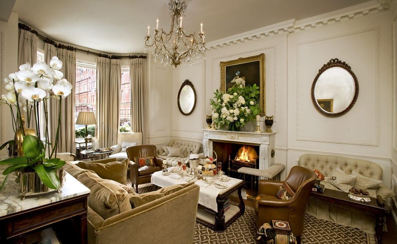 Décoration de style anglais dans le salon.