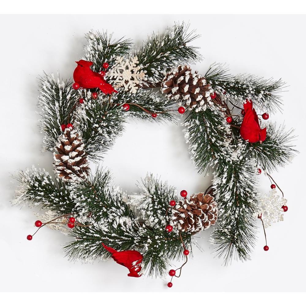 Couronne de pomme de pin comme décoration de Noël naturelle.