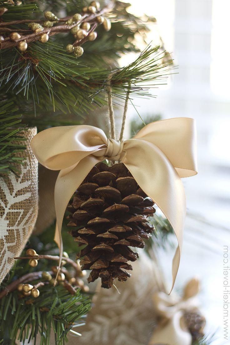 Idée de décoration de Noël facile et écologique.