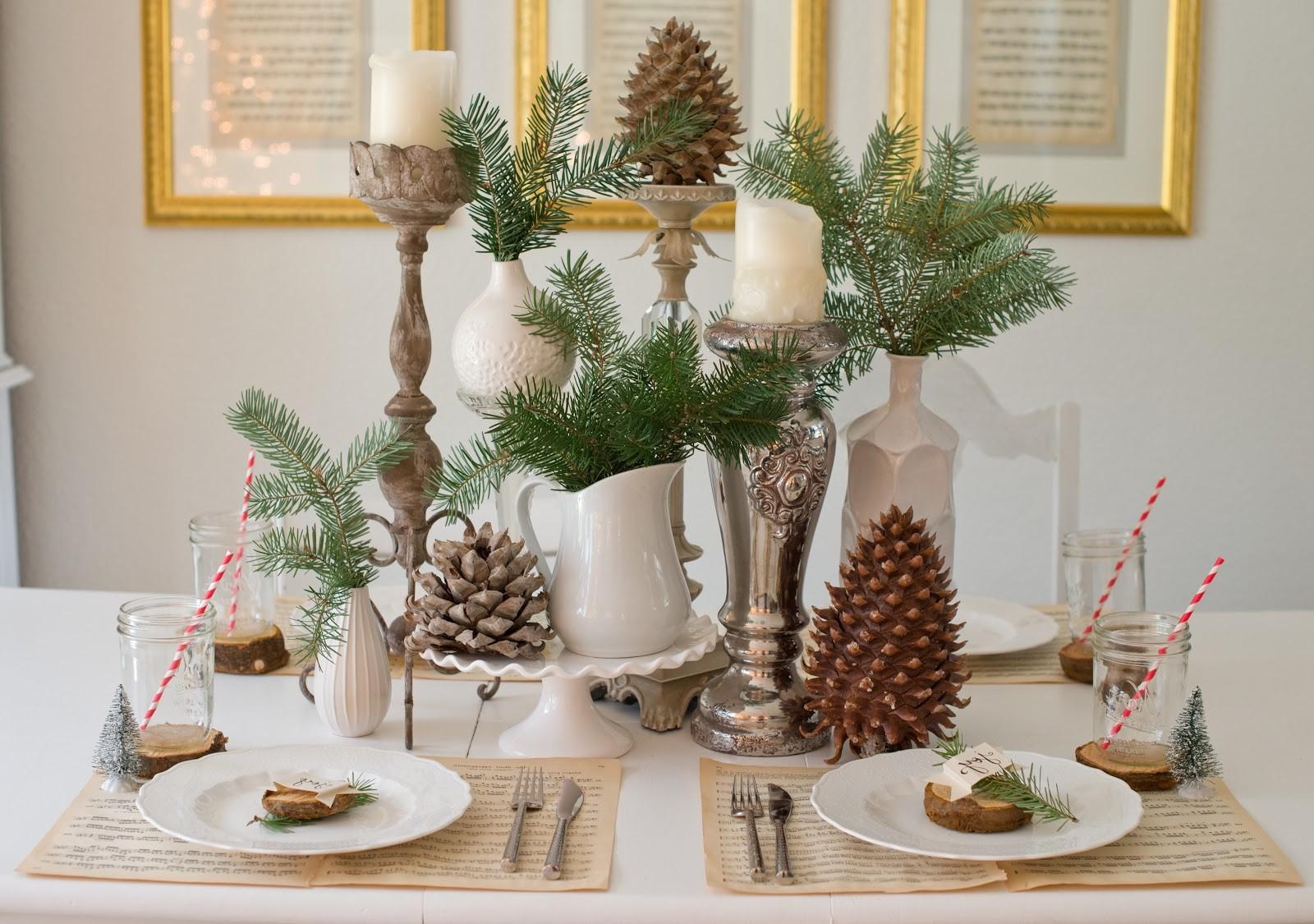Table de Noël festive.