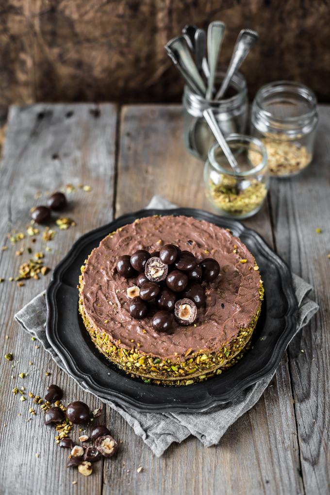 Recette de Cheesecake au chocolat Nutella une recette super facile à faire pour votre Thermomix