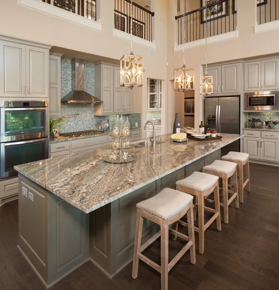 Dans les cuisines conçues pour l'accessibilité, au moins une partie des armoires de base est laissée ouverte.
