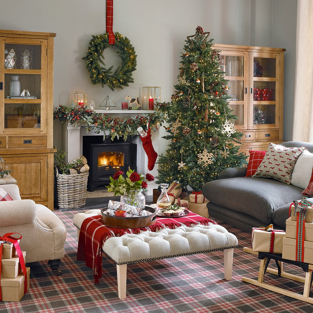 Idées de décoration de Noël: charme rustique.