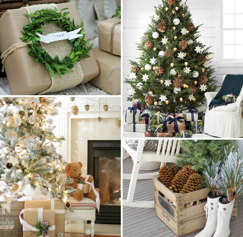 Décoration de Noël avec des éléments naturels.