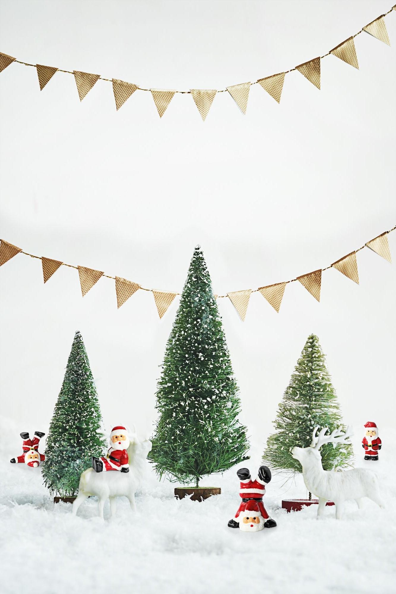 Idées de décoration de Noël créatives avec le Père Noël.