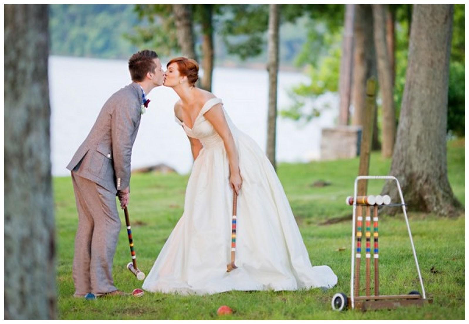 Jeux de mariage rigolo: croquet.