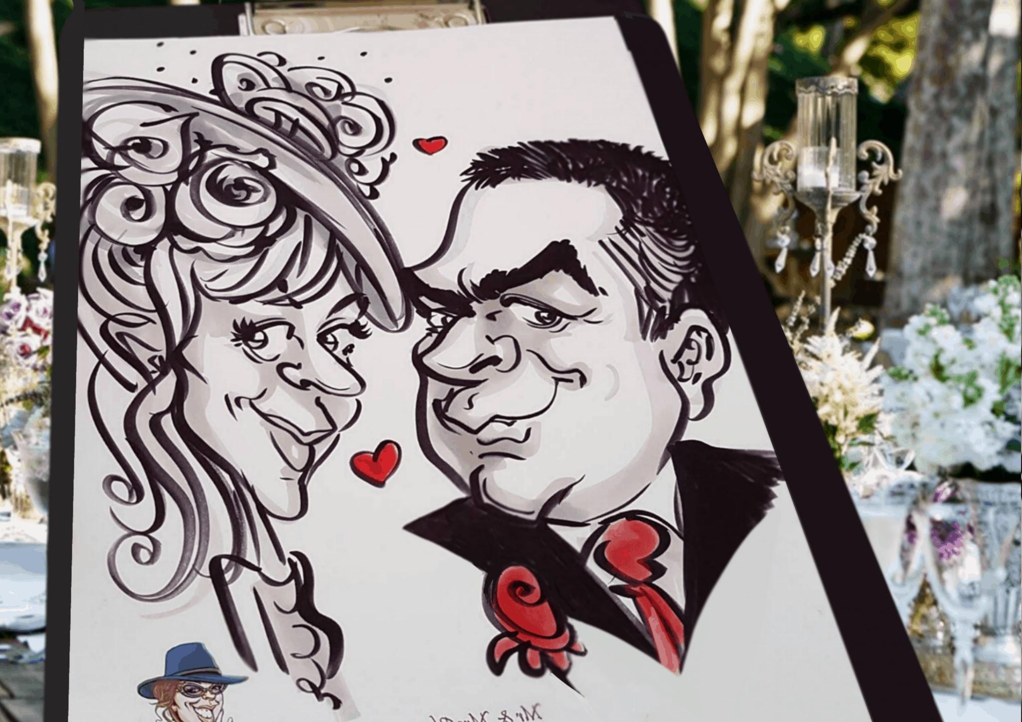 Les caricaturistes sont toujours un bon choix, afin que vos invités aient un souvenir amusant de votre journée spéciale.