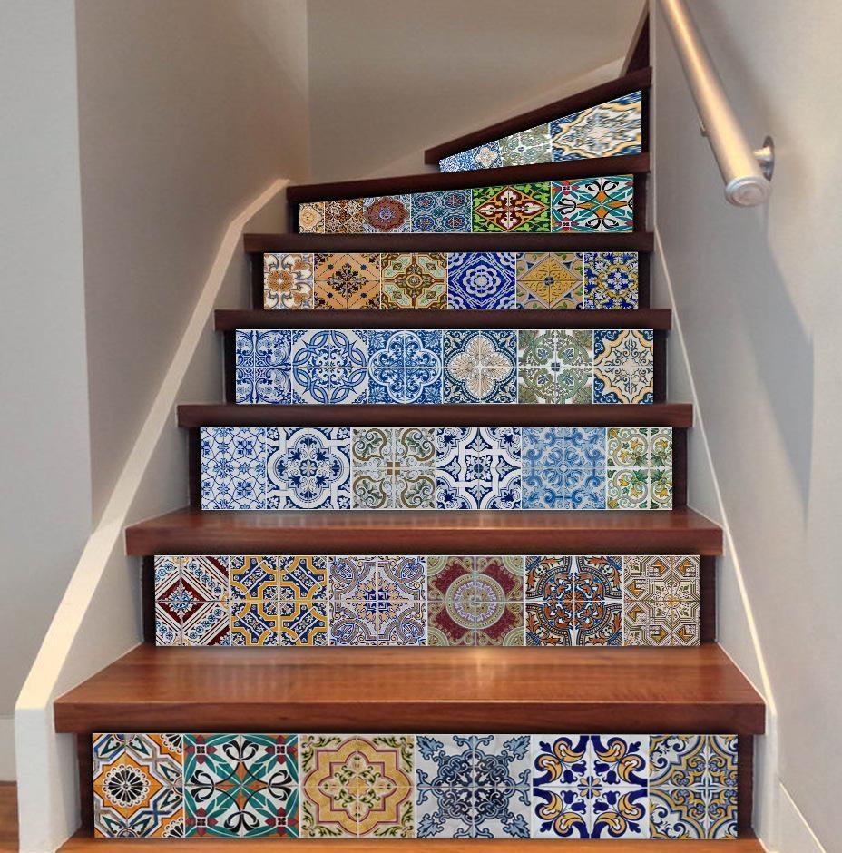 Achetez des stickers à transformer et à moderniser un escalier en bois.