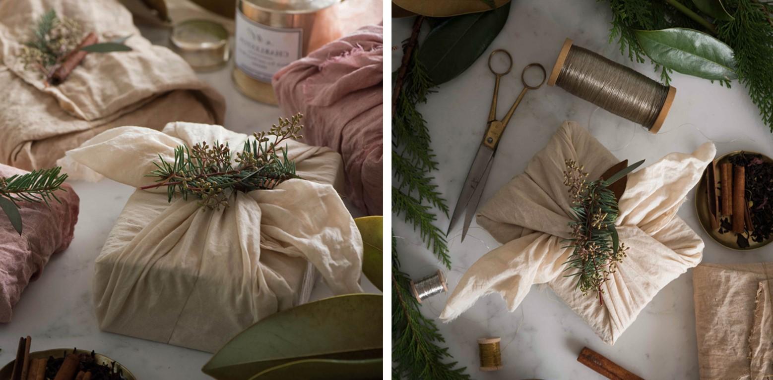 Noël zéro déchet: vous pouvez recycler de vieux bandanas, écharpes ou mouchoirs.