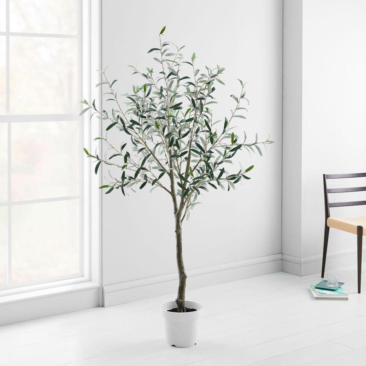 Retournez l'arbre (ou presque) et secouez-le rapidement pour le détacher du pot.