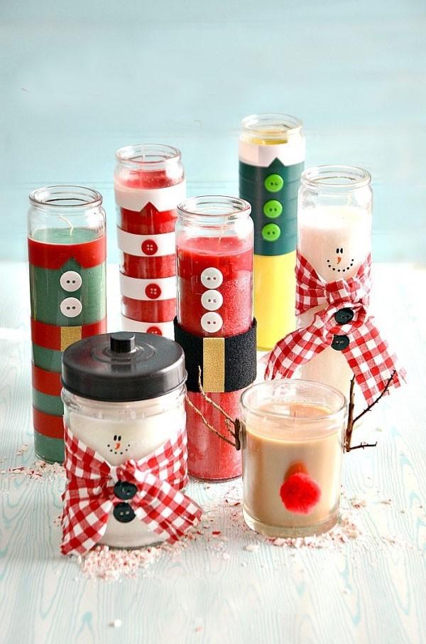 Transformez des bougies bon marché en personnages de Noël mignons.