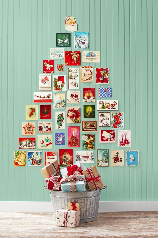 Activité manuelle de Noël: Arbre de cartes de Noël.