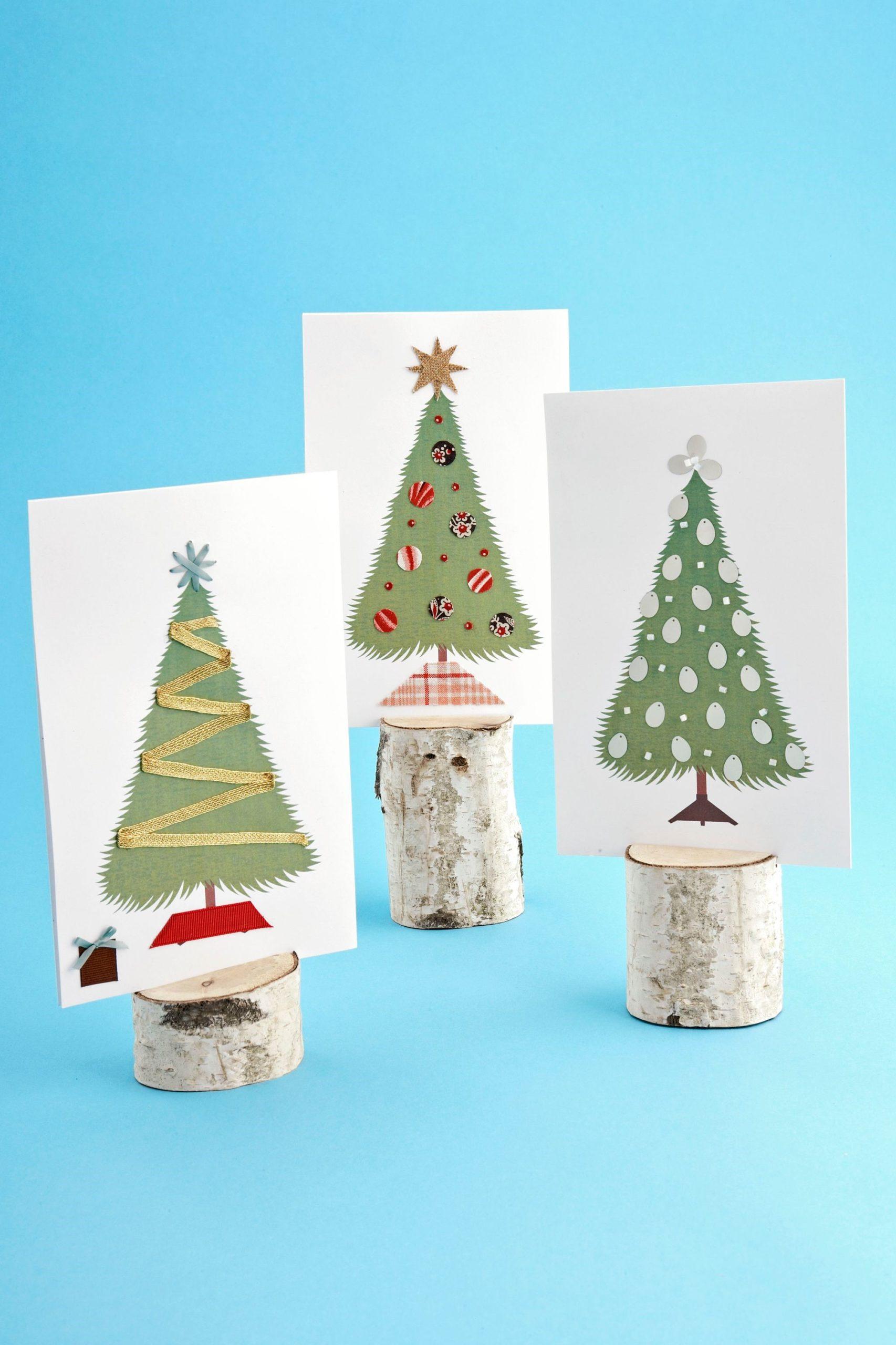 Activité manuelle de Noël: Cartes de Noël bricolage.