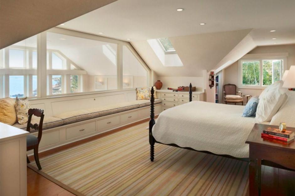 Aménagement sous combles: Encadrez la superbe vue de votre nouvelle chambre.