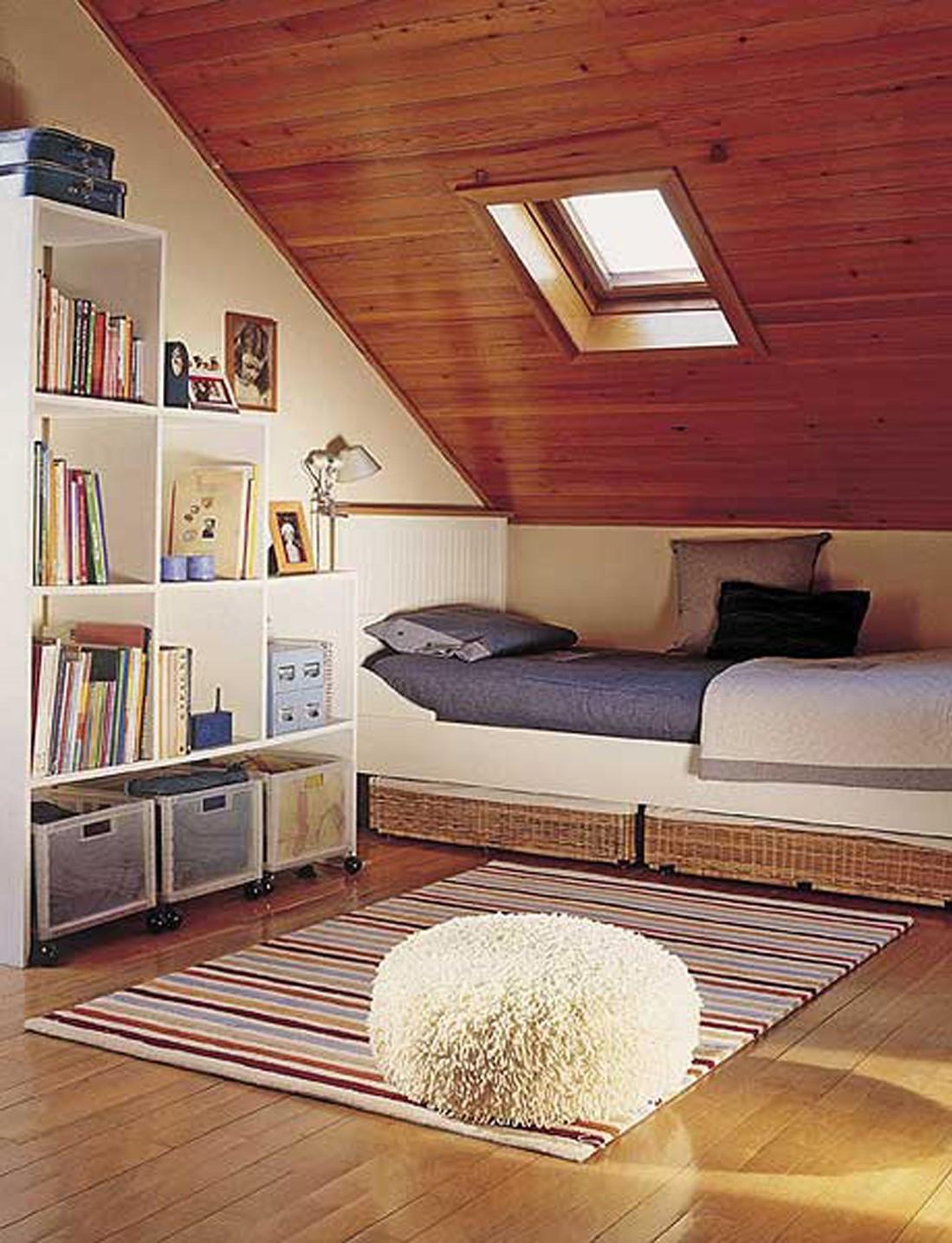 Une chambre mansardée insolite peut être transformée en quelque chose de vraiment exceptionnel avec juste un peu de texture.
