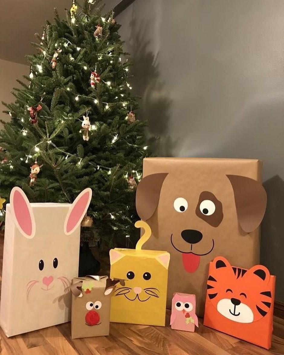 Emballage cadeau drôle et mignon pour les enfants.