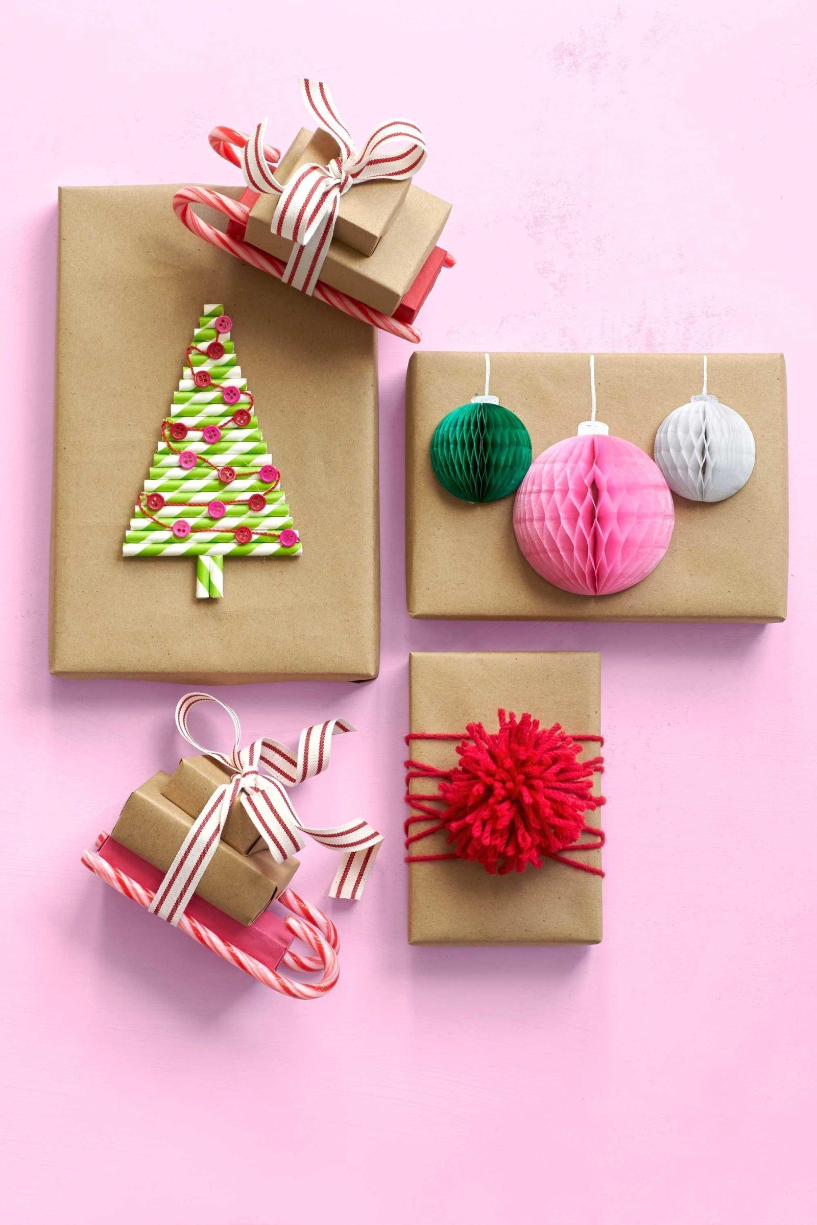 Emballage cadeau créatif et coloré.