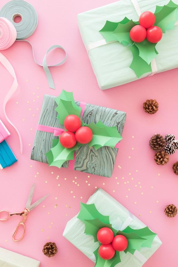 Idées d'emballage créatives pour Noël.