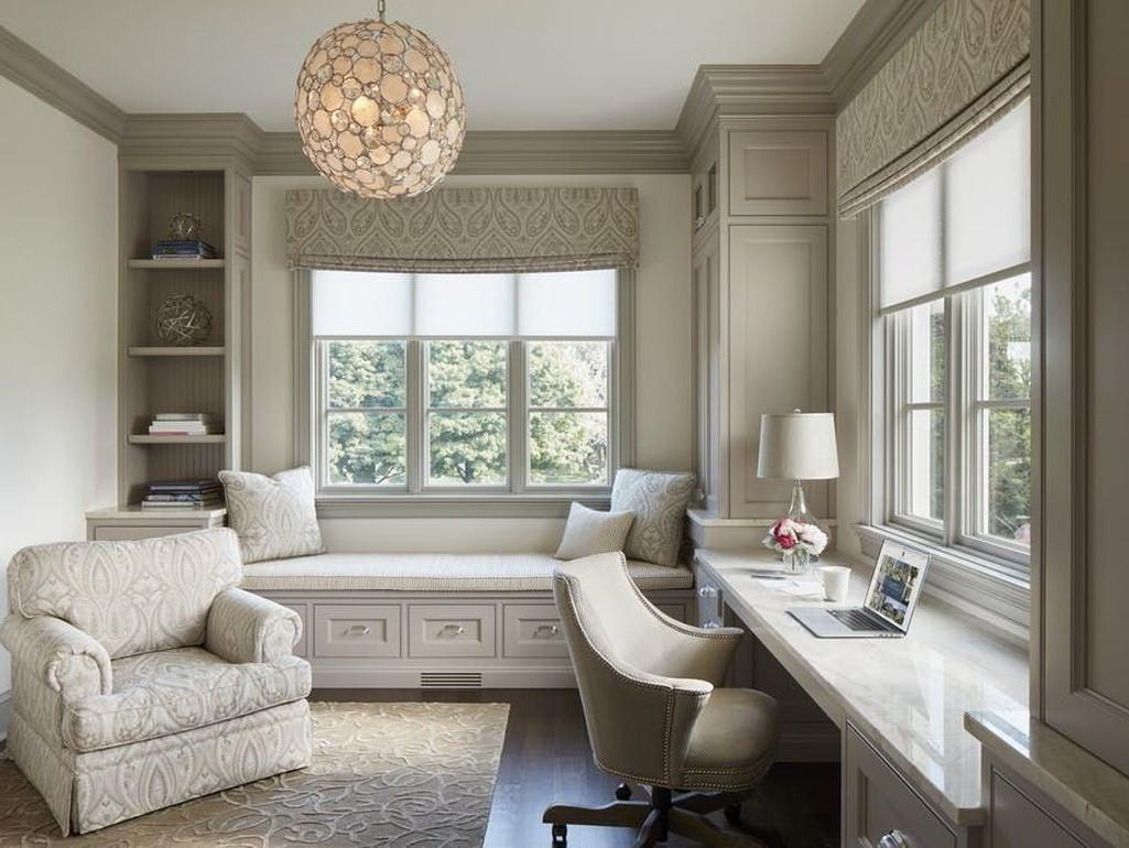 Le salon est l'endroit idéal si vous ne disposez pas d'une pièce séparée où vous pourriez ranger votre coin de travail.