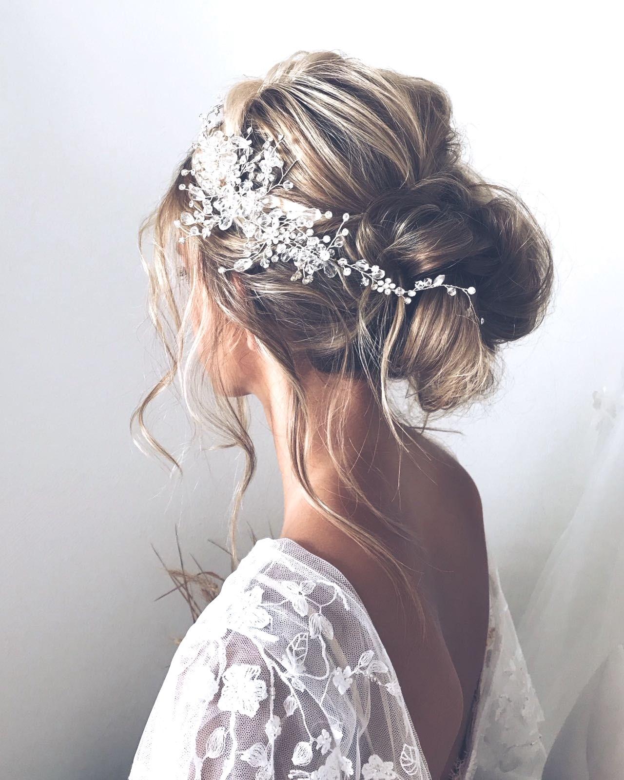 Ce style est parfait pour une mariée avec une robe boho.
