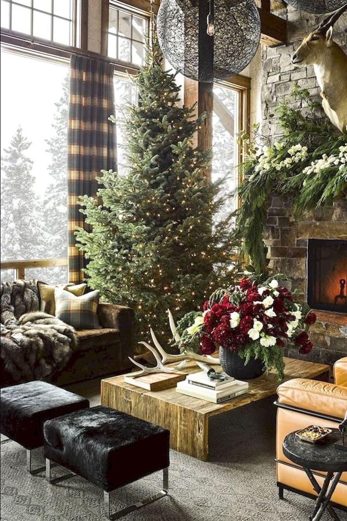 Décoration de Noël rustique.