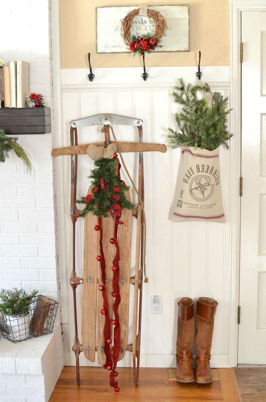 Déco de Noël facile dans le style rustique.