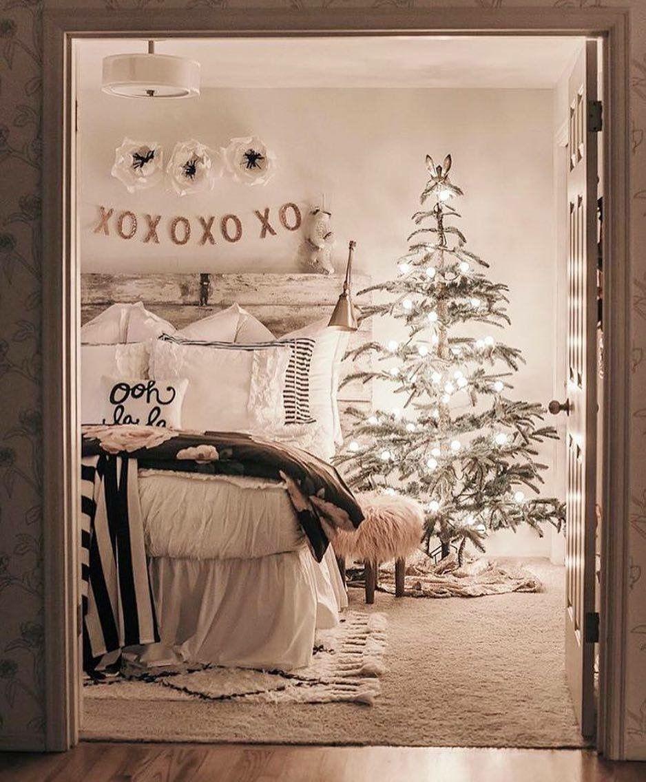 Déco de Noël pour votre chambre à coucher.