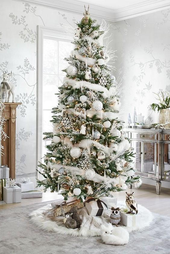 Arbre de Noël blanc.
