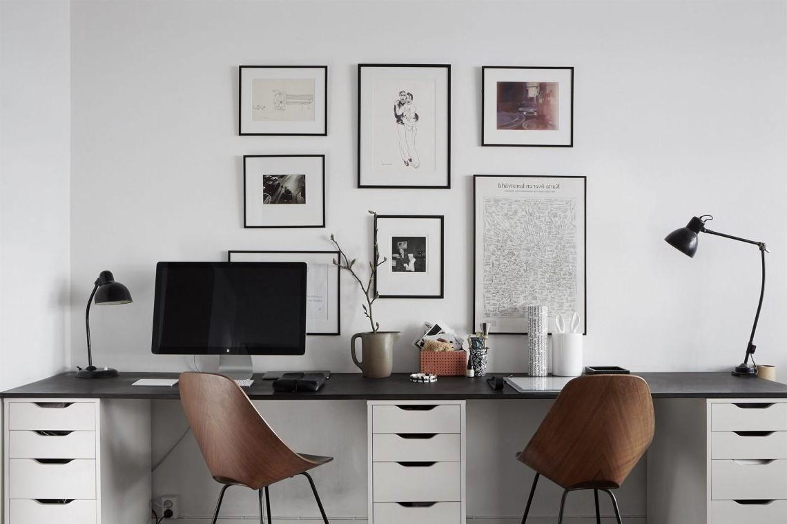Idées de bureau: définissez un emplacement particulier pour les stylos, les post-it, les dossiers et les documents.