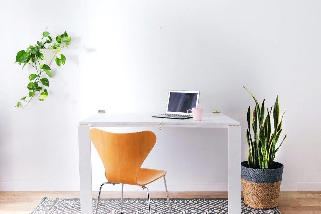 Idées de bureau: Une simple plante peut facilement animer n'importe quel espace de travail.