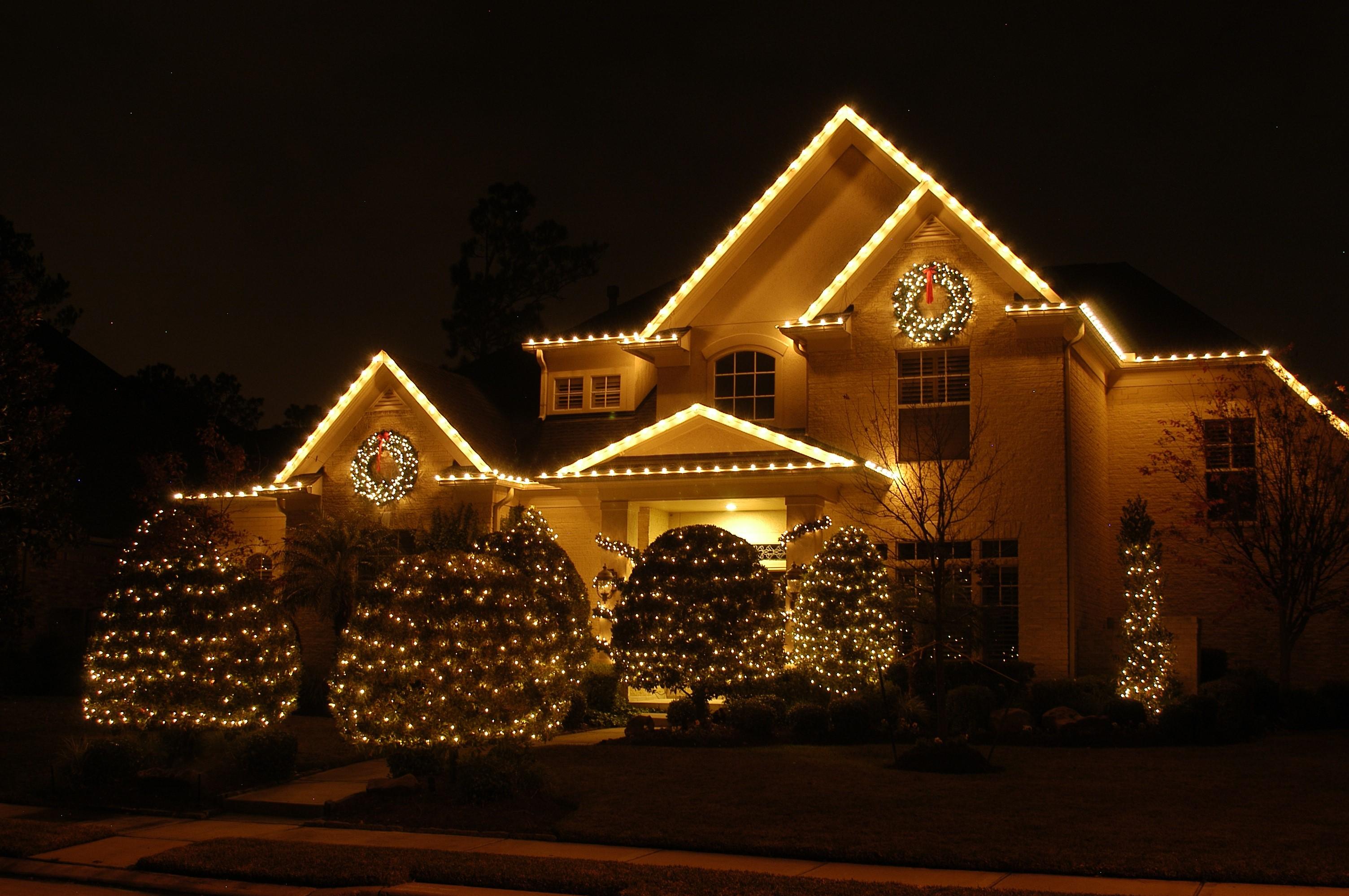 Belle décoration extérieure de Noël pour votre maison.