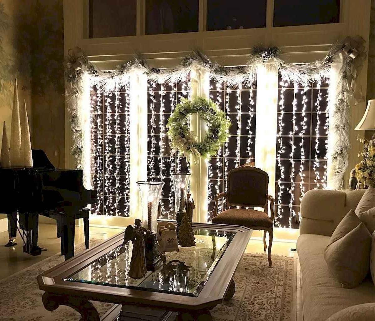 Rideau de lumières pour votre salon.