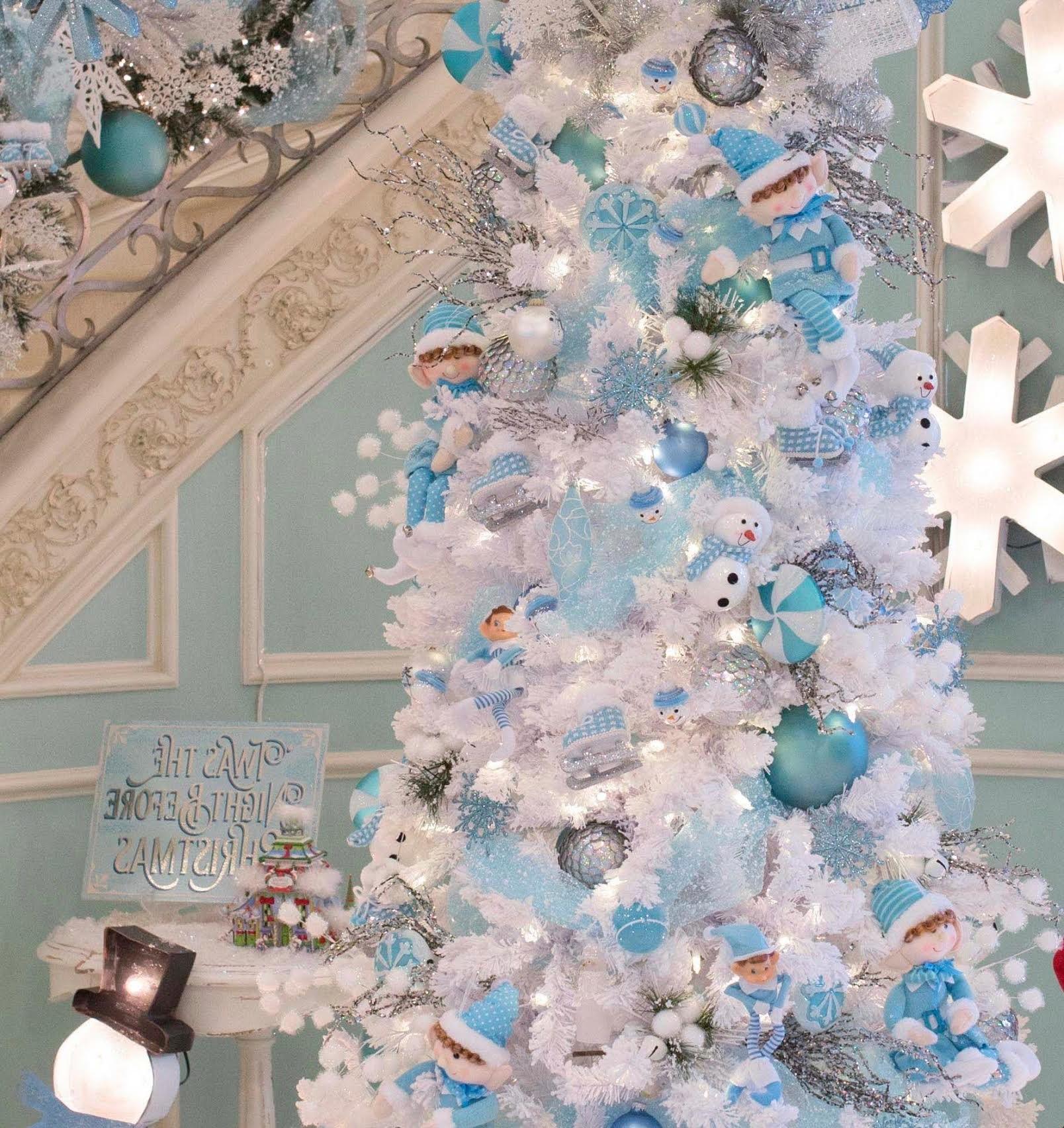Pays des merveilles d'hiver en bleu et blanc!