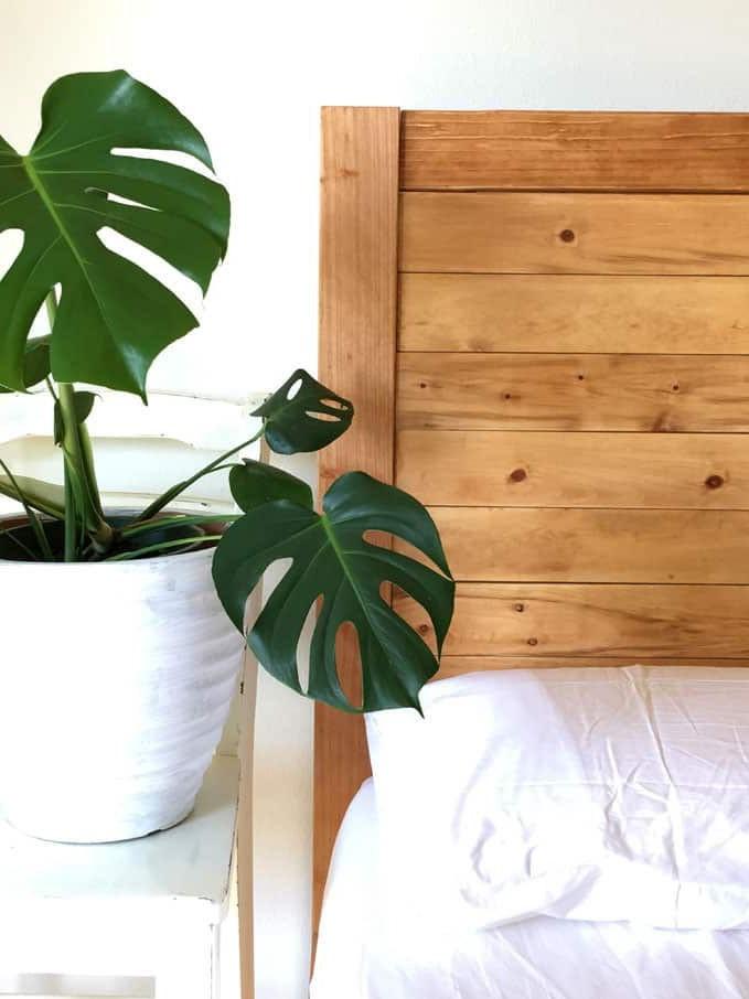 Tête de lit en palette bricolage.