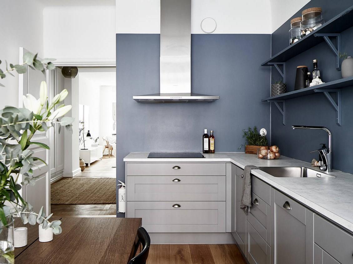 Le bleu canard et le gris sont une combinason parfaite!