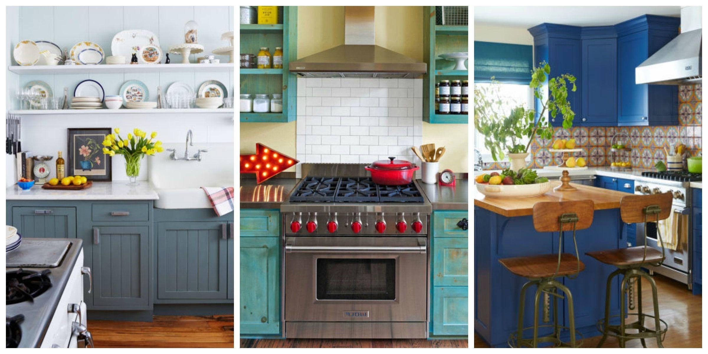 La tendance bleu canard est parfaite pour votre cuisine,