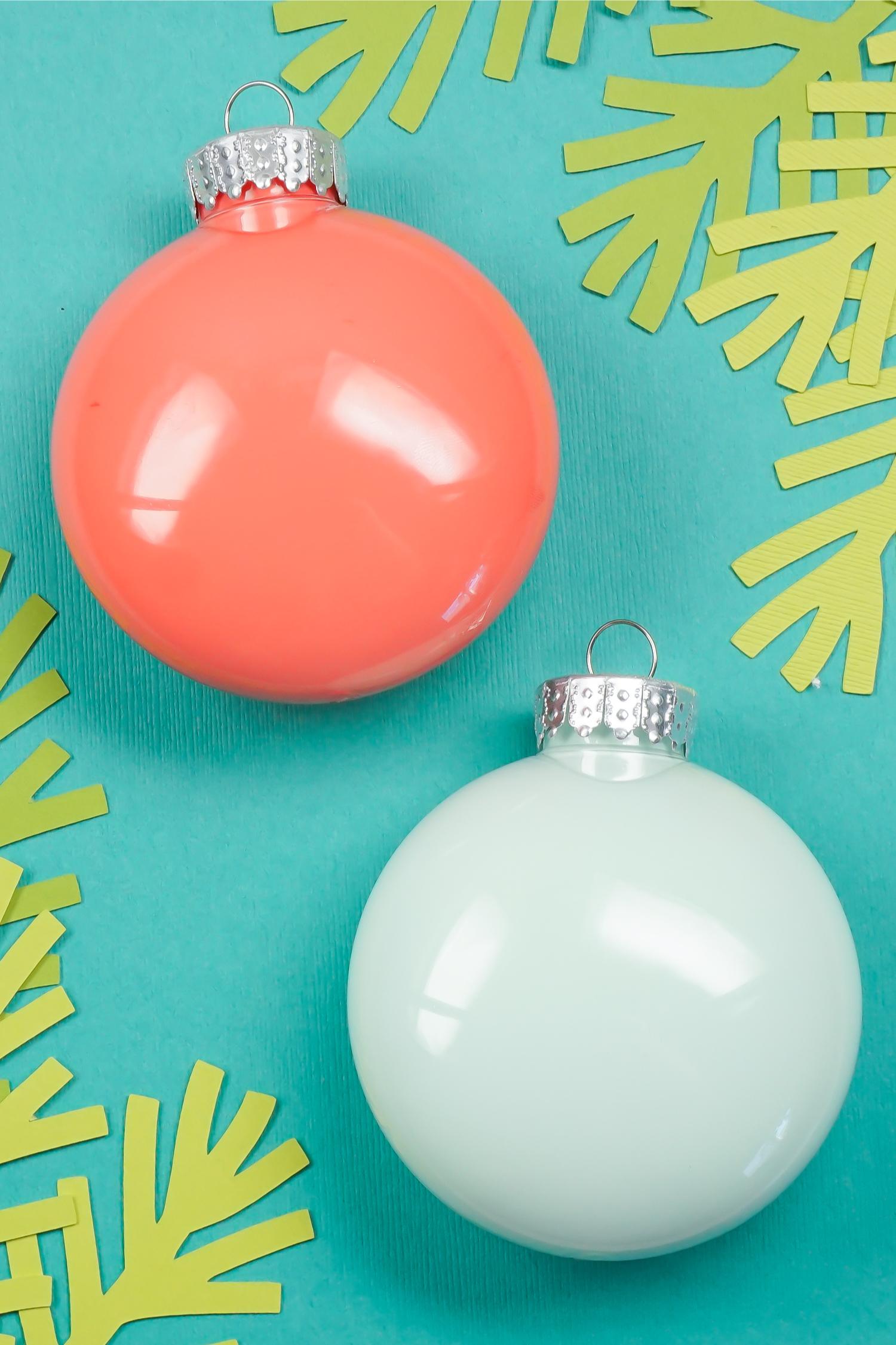 Boules de Noël à fabriquer soi-même
