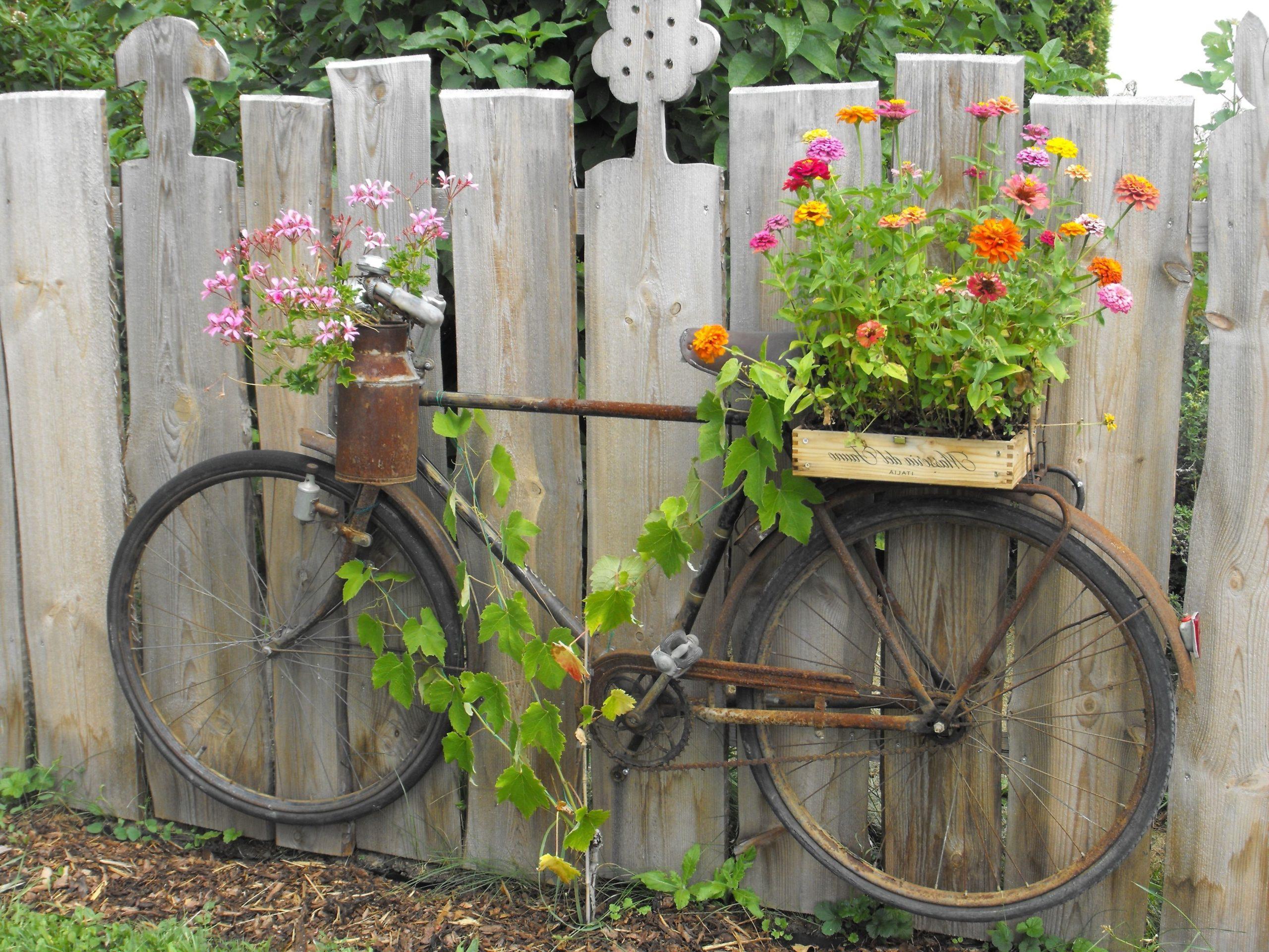 Bricolage pour jardin: Transformez votre vieux vélo en quelque chose de spécial.