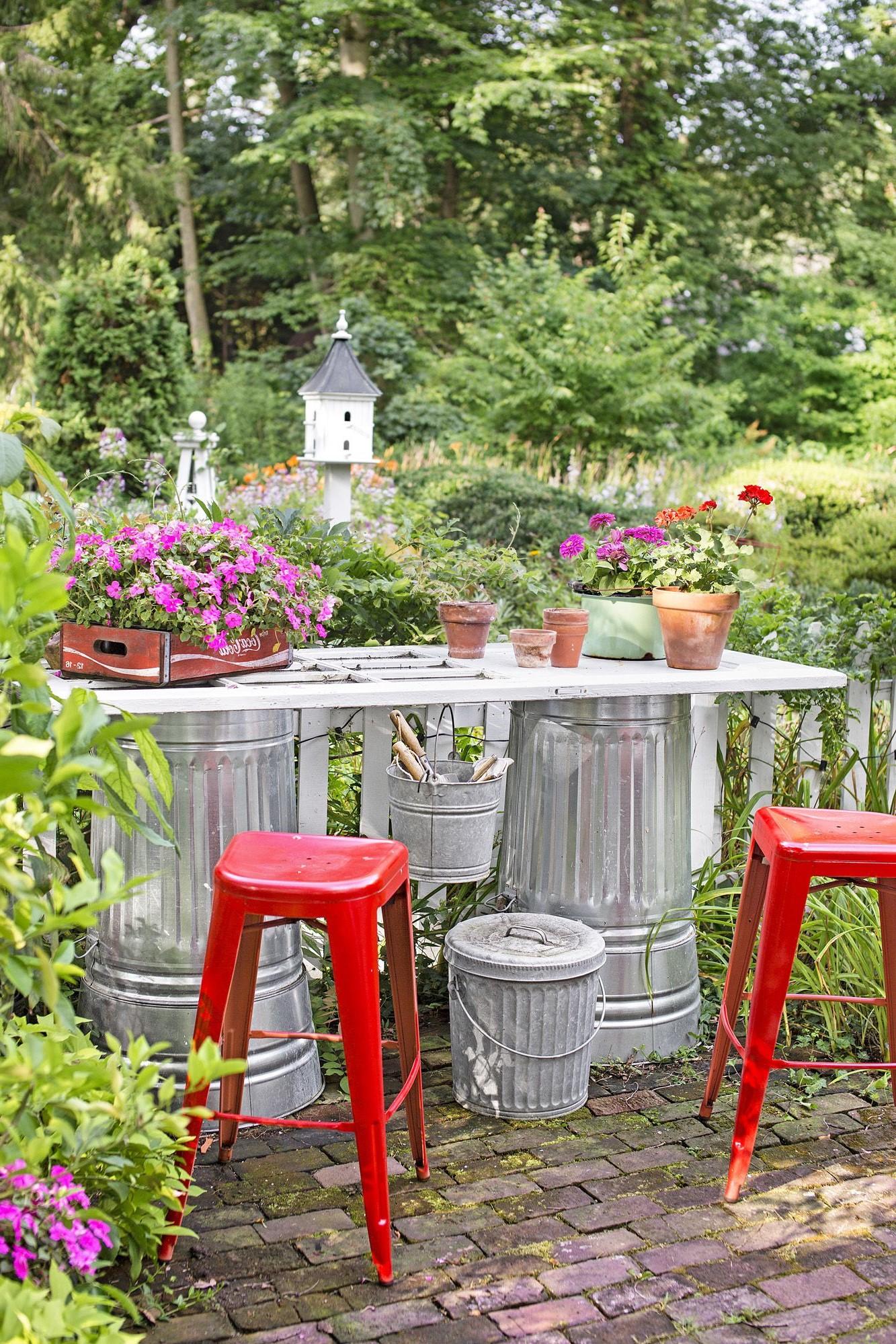 Bricolage de jardin: Station d'empotage facile.