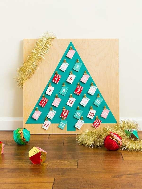 Calendrier comptant les jours jusqu'à Noël.