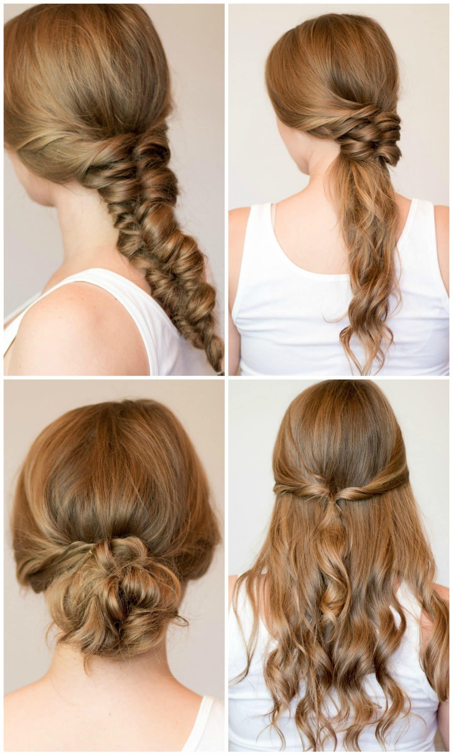 Coiffures simples pour les cheveux longs.