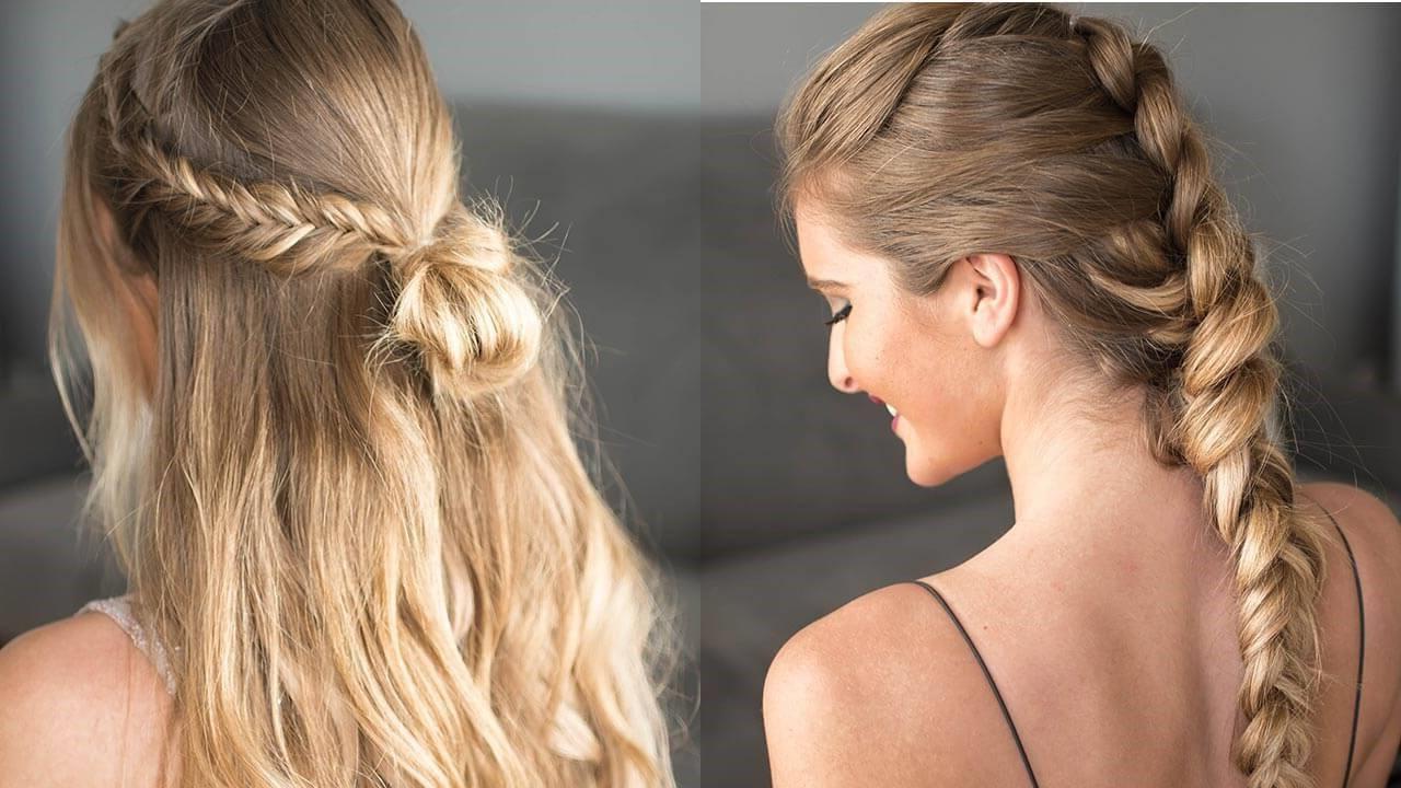 Coiffure simple pour les cheveux longs.