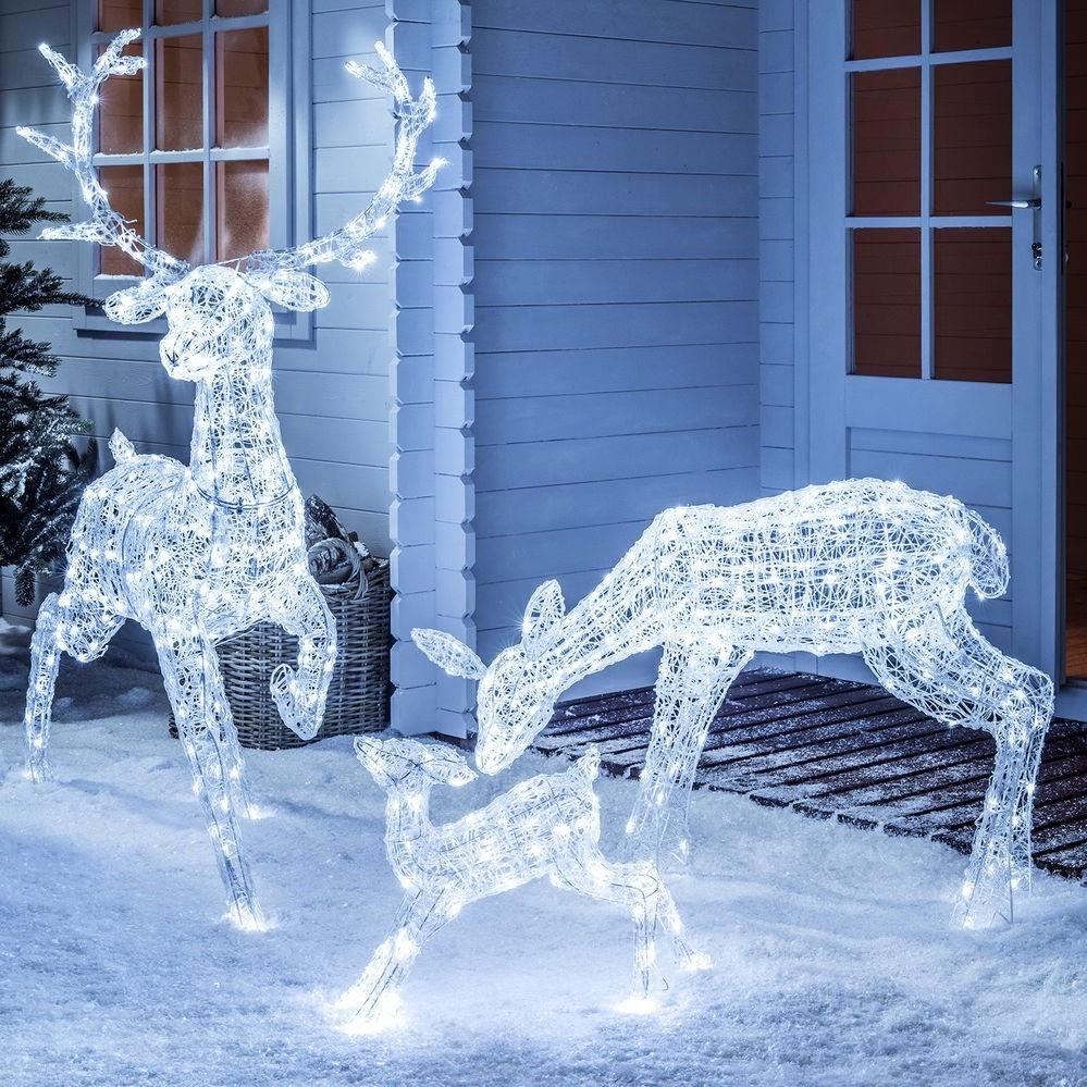 Déco de Noël GiFi: caribou lumineux.
